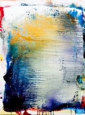 Jackie Saccoccio Painting oil and mica on linen