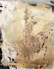 Jackie Saccoccio Villa Croce Museum  oil and mica on linen