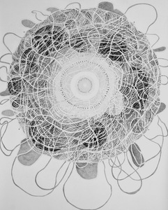 Jackie Skrzynski As Within, So Without pencil, charcoal and colored pencil on paper