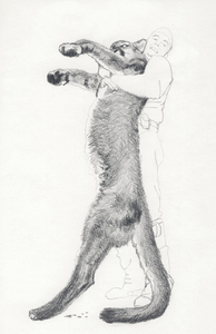 Jackie Skrzynski Trophy Shots pencil on paper