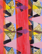 Jacob Rhoads 2013 Patterns acrylic on wood panel