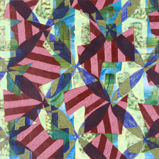 Jacob Rhoads 2013 Patterns acrylic on panel