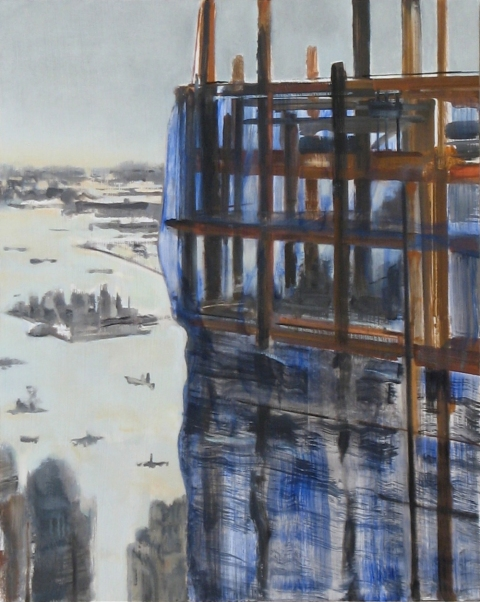City Paintings Tower #1, 2011, Oil on panel, 20x16