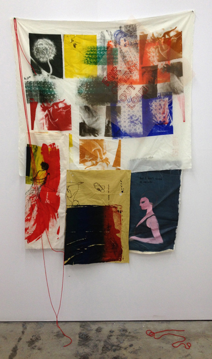 JADE WALSH Selected Works Screen-print, wool, acrylic on fabric