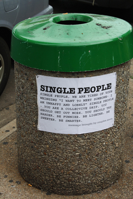 "Public Art Bin; Darwin ( from ""My Single People"" Project)"