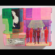 Jaime Scholnick Newest Drawings/Collages 2013-present mixed media on polystyrene
