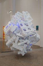 Jaime Scholnick Redesigned, Repurposed, Re-everythinged Flashe on polystyrene, LED's