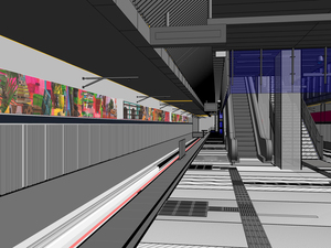 Jaime Scholnick Expo/Crenshaw Station Commission mixed media