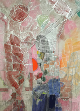 Jaime Scholnick New Paintings  mixed media on canvas