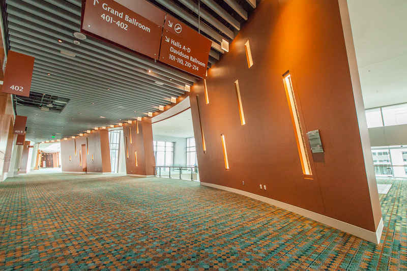 Eight Octaves at the Music City Center Eight Octaves: Wall Niches 5-8 are located just outside the Grand Ball Room