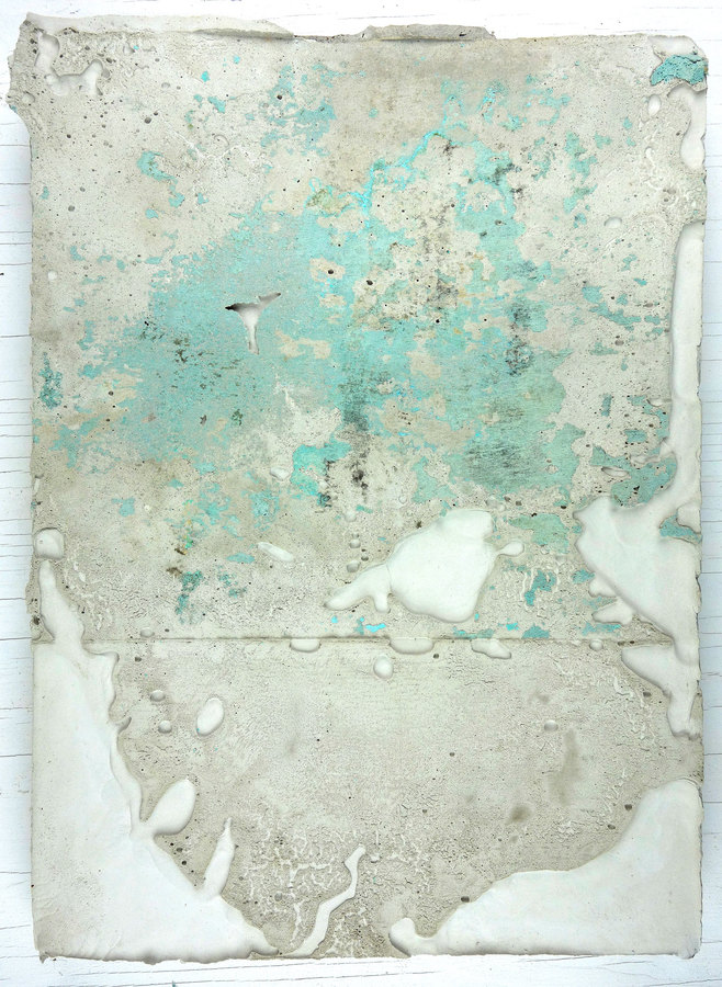 JAMES BUSS 2015-2016 plaster cast relief, concrete stain