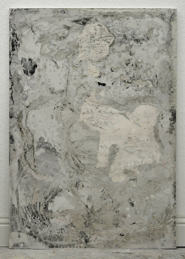 JAMES BUSS 2015-2016 plaster cast, collage, enamel, relief ink