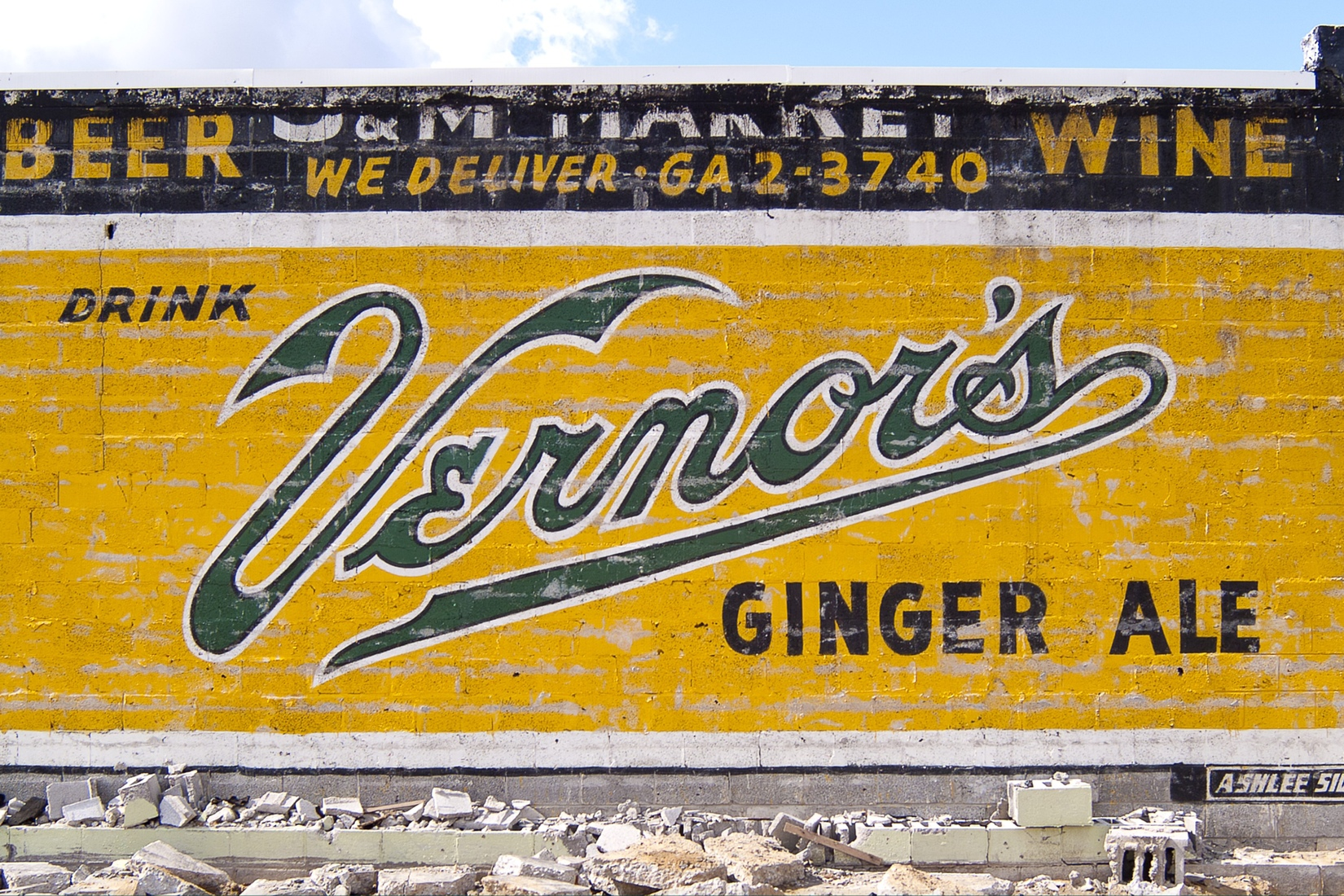 Signs Vintage Vernor's Ghost Sign No. 1