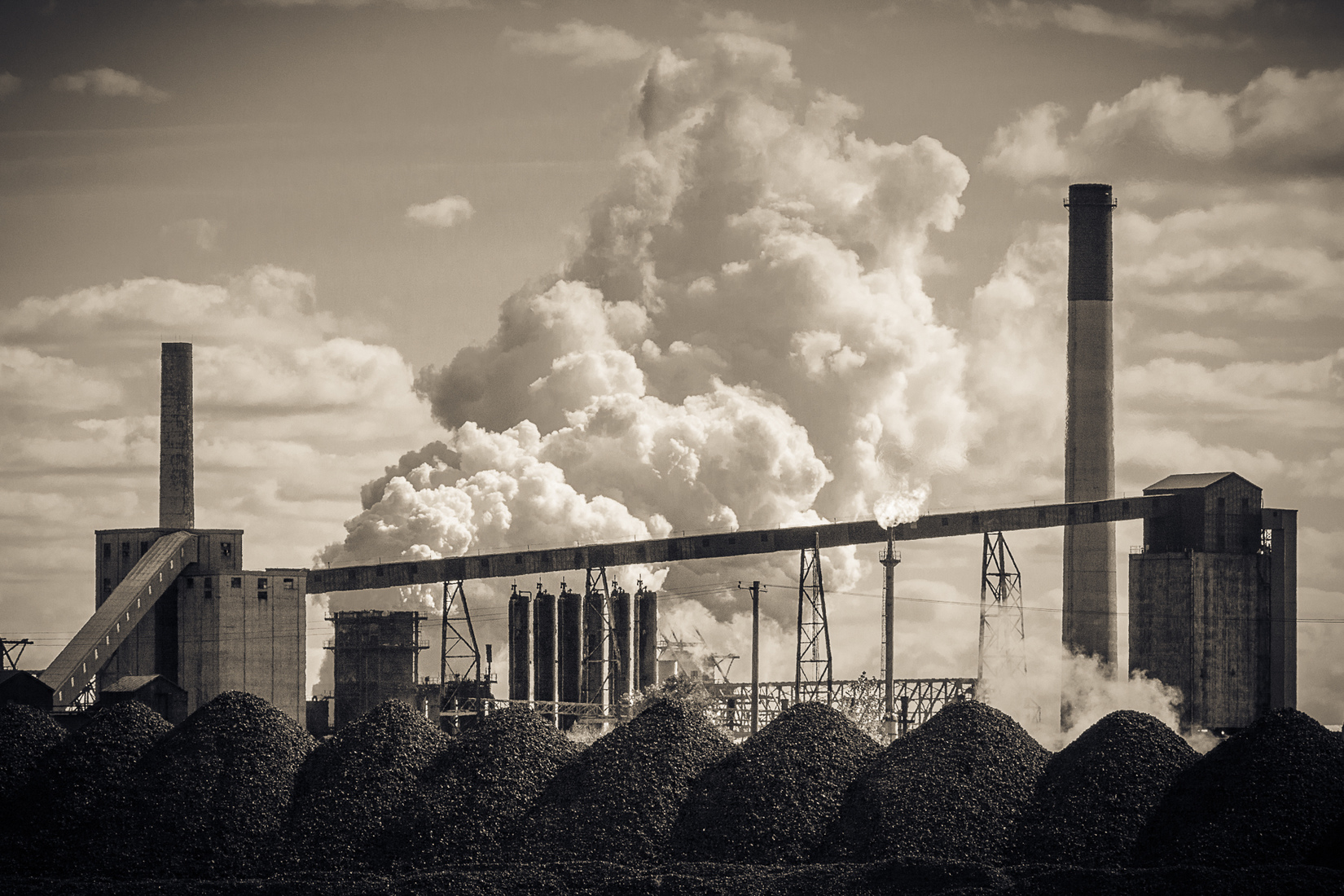 Industrial Cloud Factory No. 1 - Duotone