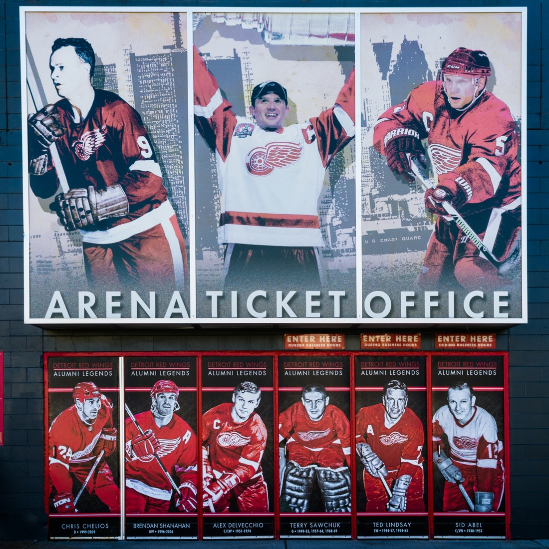 Detroit Sports Joe Louis Arena - 9 Red Wings Legends