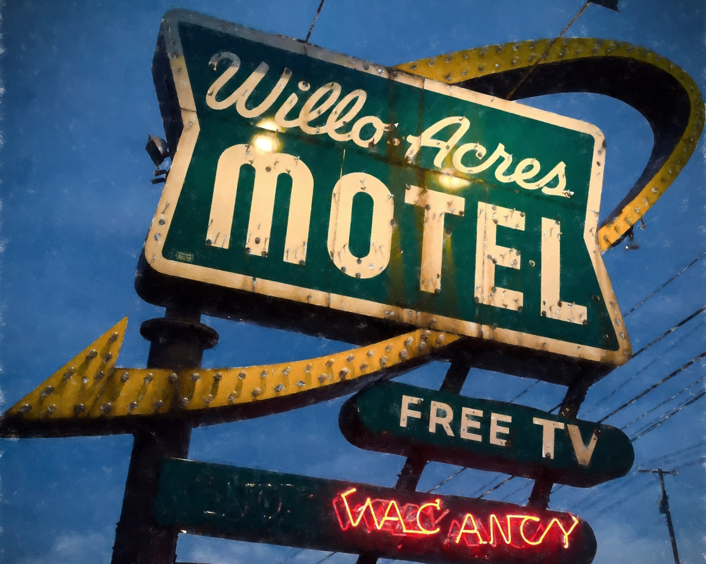 Neon Willo-Acres Motel