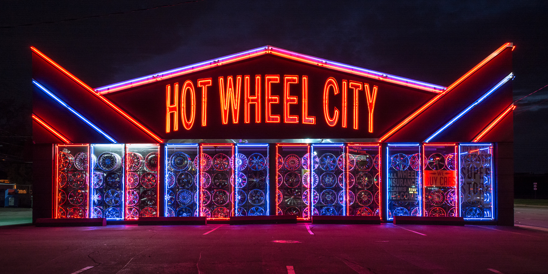 Neon Hot Wheel City  No. 1b