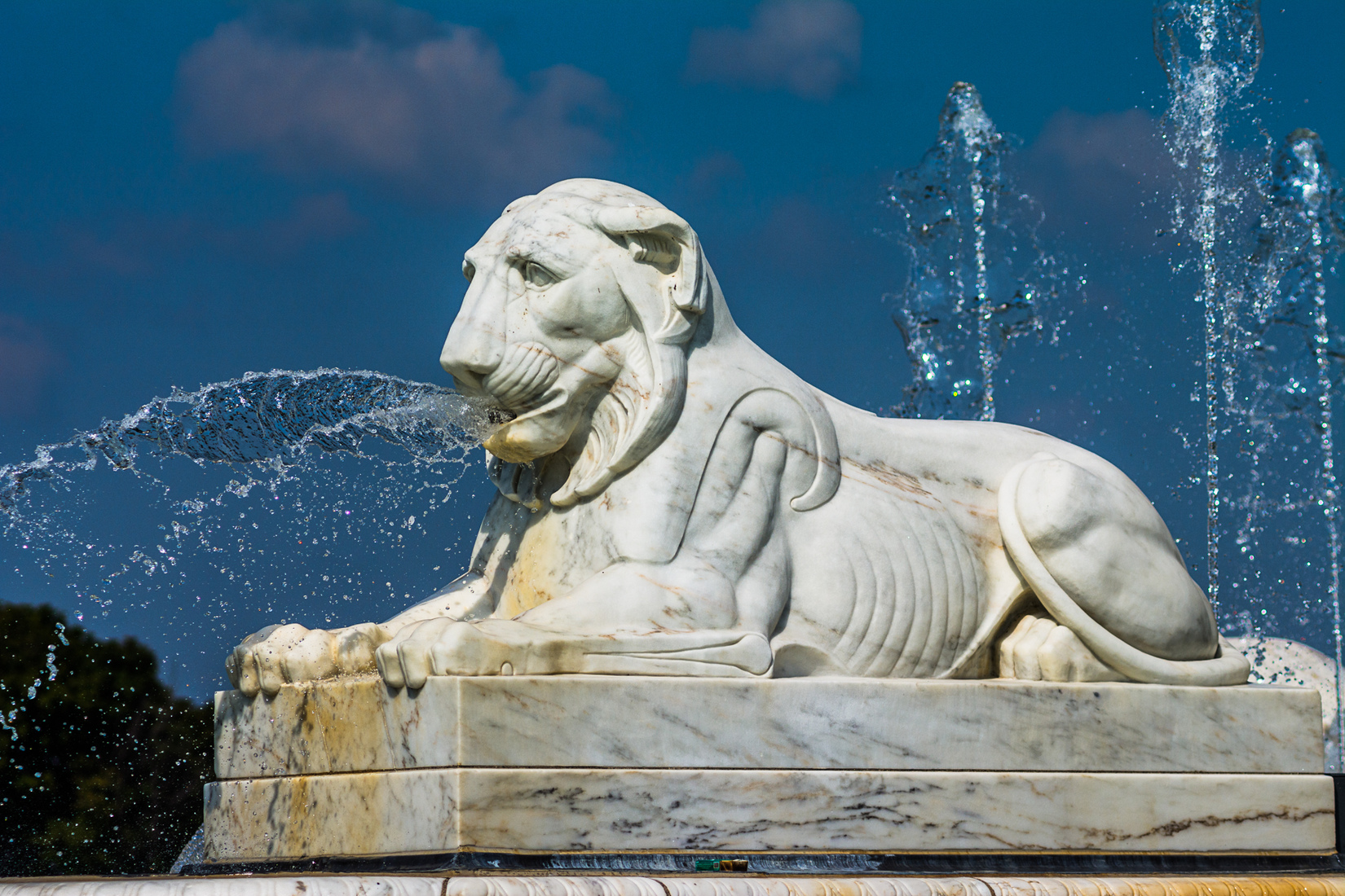 Belle Isle Fountain Lion - Right