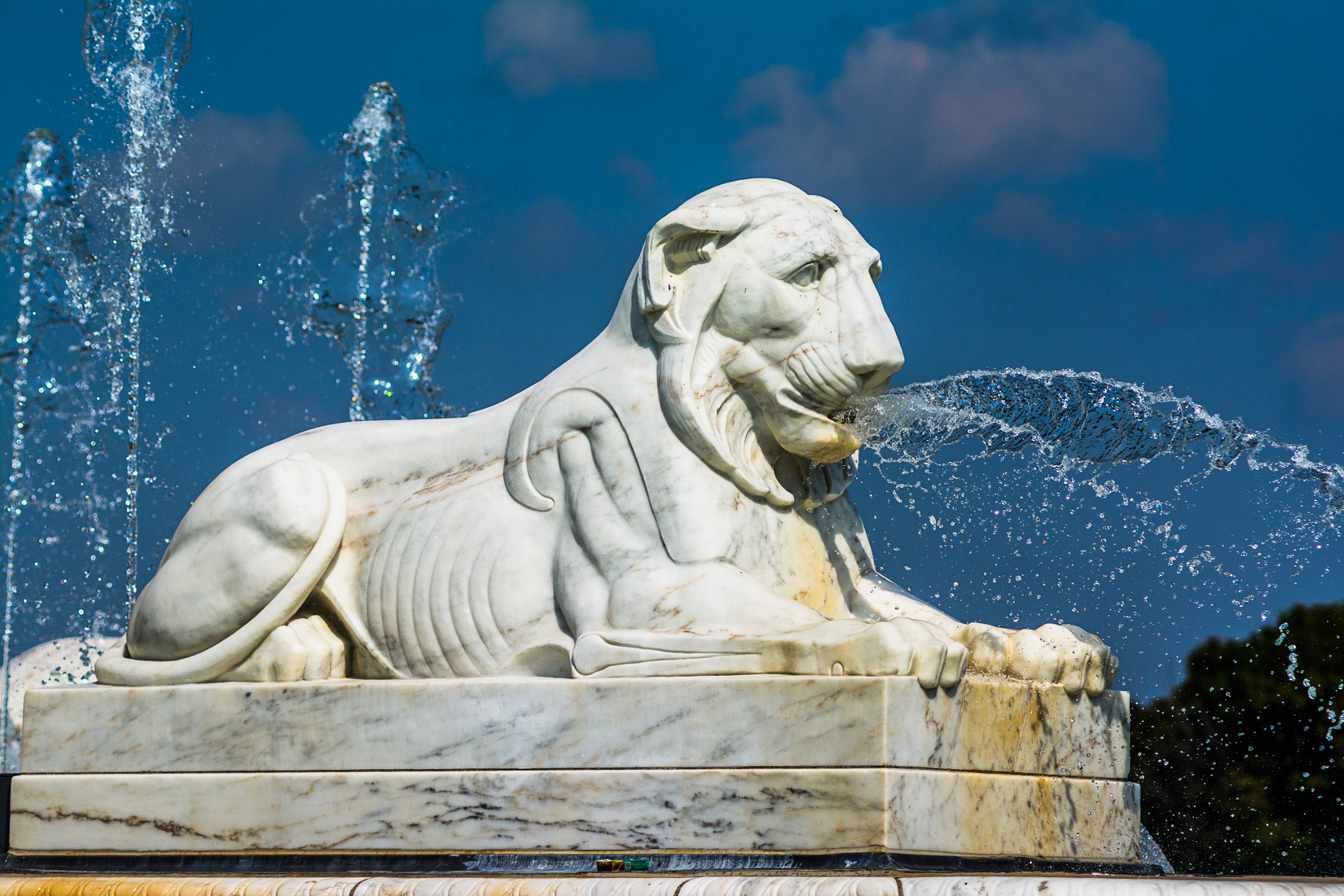 Belle Isle Fountain Lion - Left