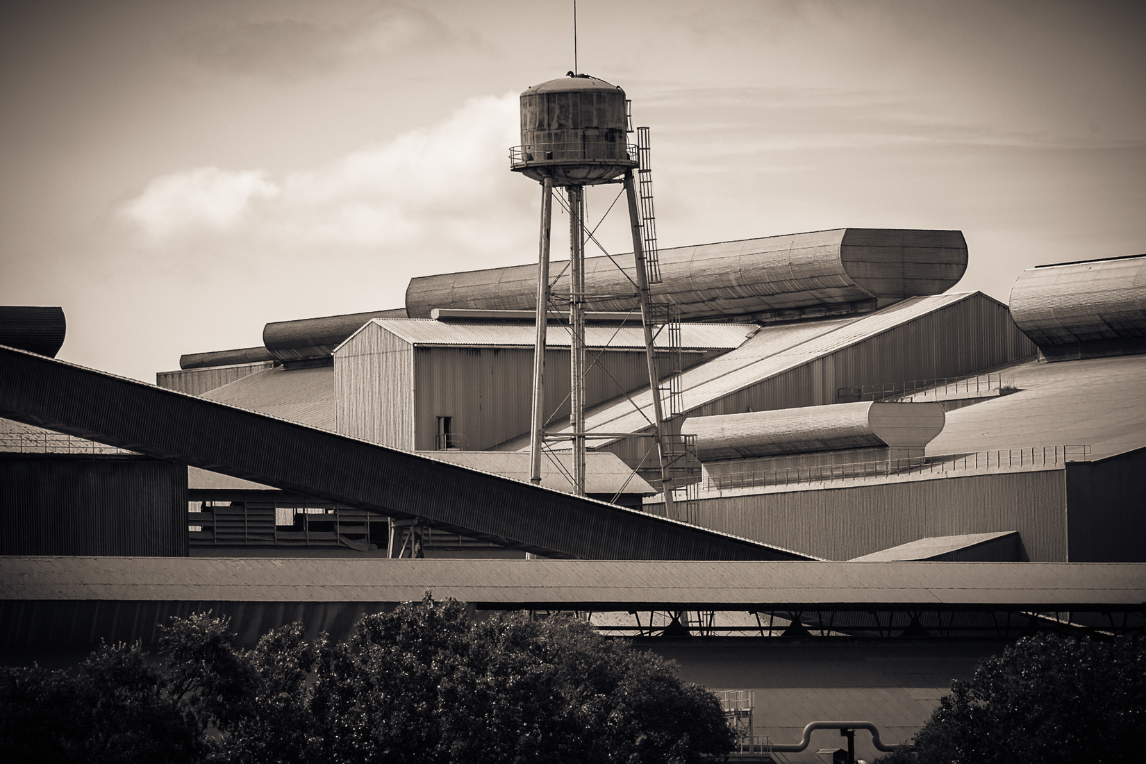 Industrial Sheeler Shapes and Shadows No. 1 (Duotone)