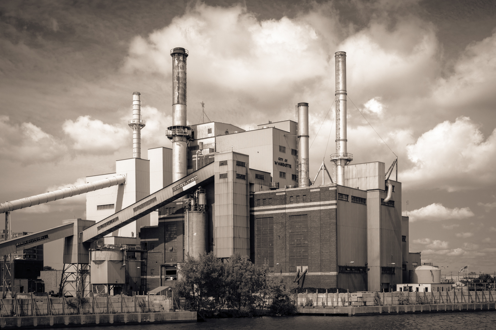 Industrial Wyandotte Power - Homage to Charles Sheeler