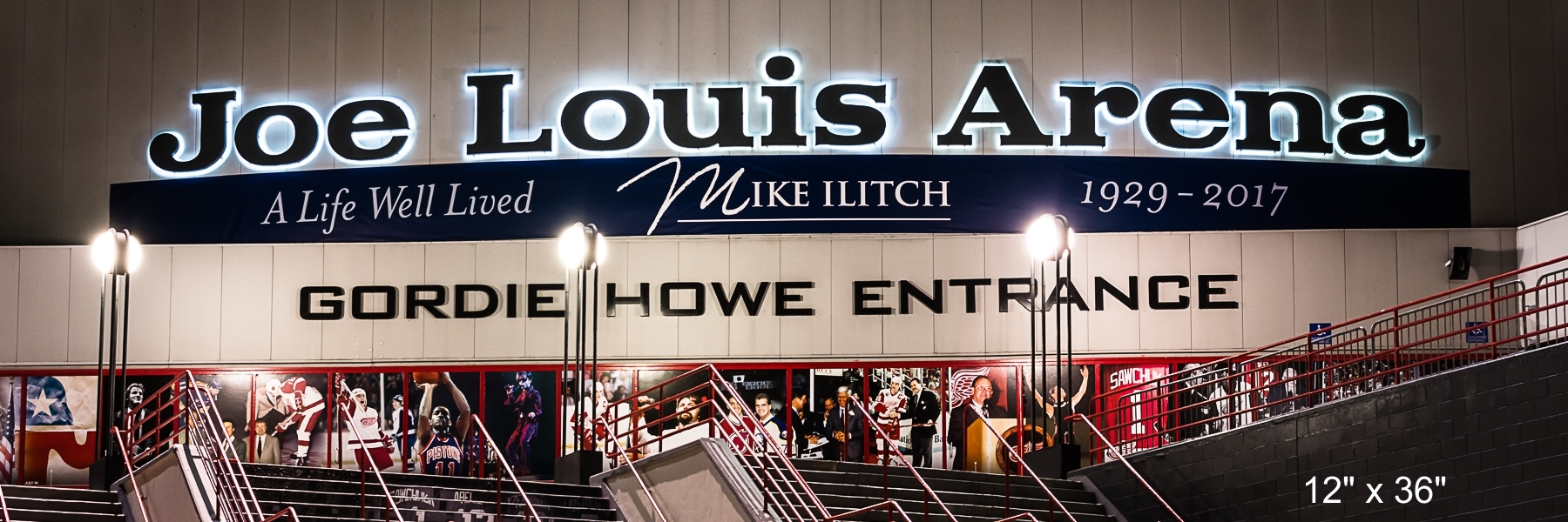Detroit Sports Joe Louis Arena - Gordie Howe Entrance
