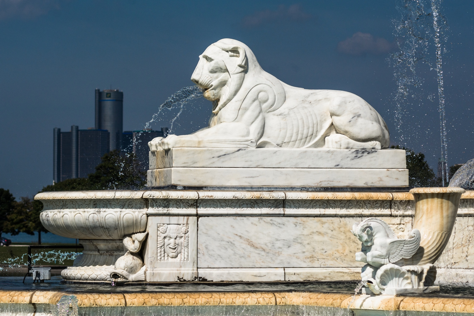 Belle Isle Scott Fountain Lion