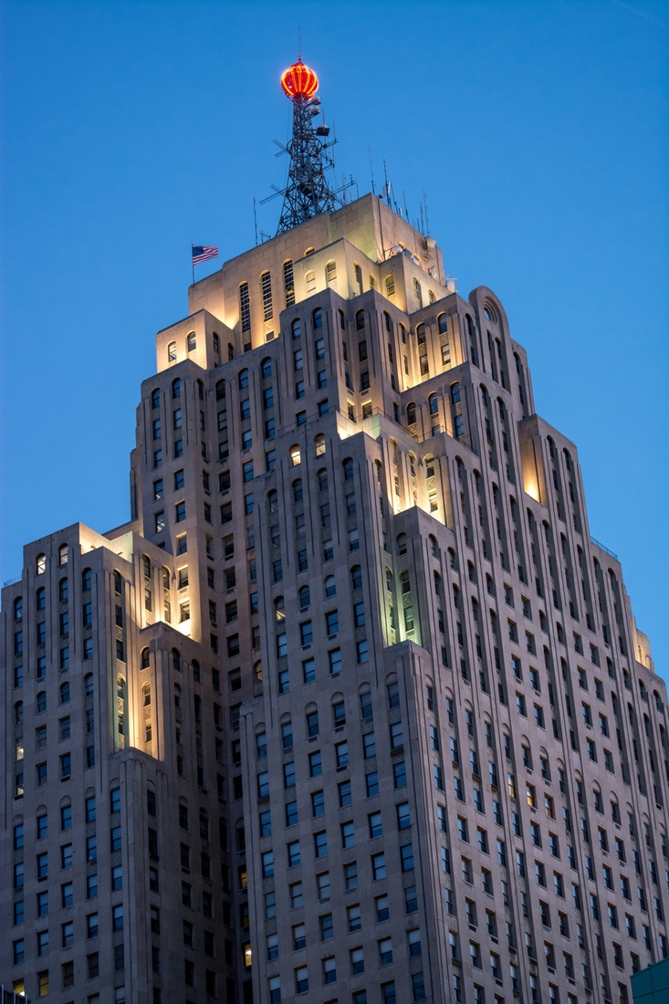 Detroit Penobscot Twilight