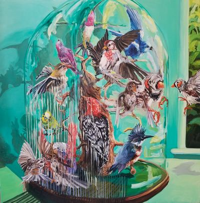 Jane Deering Gallery Bird Brained | New Work by Heidi L Johnson Oil on canvas