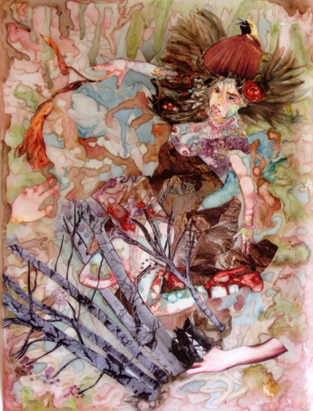 Jane Dell            Mixed Media on Mylar  mixed media on Mylar