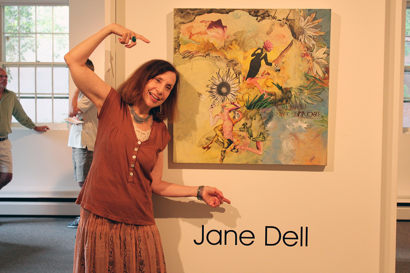 Jane Dell            Installation Photos mixed media on canvas