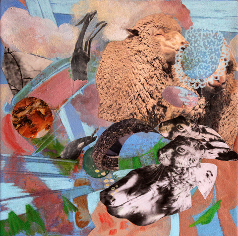 Jane Dell            Hybrids and Special Species Paintings acrylic/photo collage on canvas