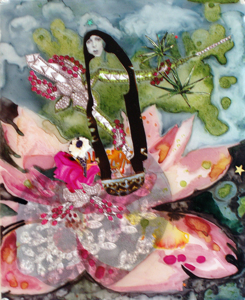 Jane Dell            Selected Sold Work mixed media on Mylar