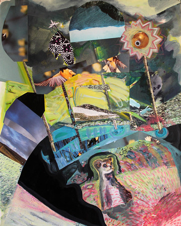 Jane Dell            Lunar Phase and Nano Nature Landscapes acrylic/ink/collage on 300 lb cold press paper