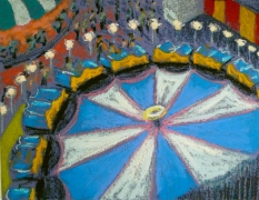 Jane Dickson Carnivals & Fairs oilstick on paper