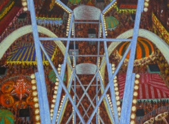 Jane Dickson Carnivals Oilstick on Linen