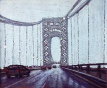 Jane Dickson Bridges & Tunnels Oilstick on brown paper