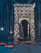 Jane Dickson Bridges & Tunnels Oilstick on paper