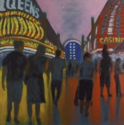 Jane Dickson Vegas Oil on Canvas