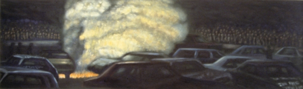 Jane Dickson Demolition Derby Oil in Canvas