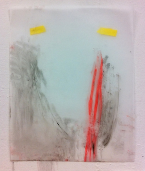 jane hugentober 2012 untitled oil, ink and oil pastel on vellum