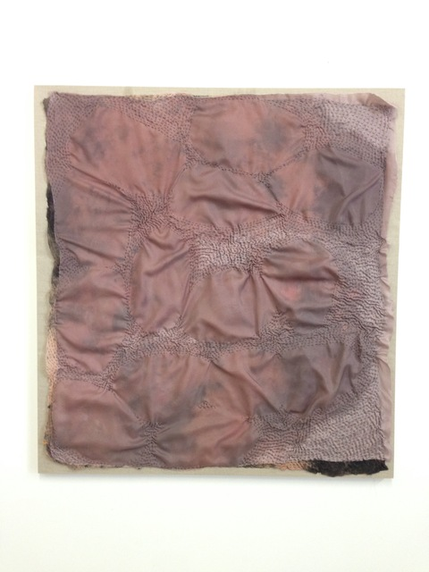 jane hugentober 2016 in the beginning, in the garment-fold cocoa butter, silk, cotton, oil and linen
