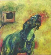 Janell O'Rourke Animal Narratives oil on canvas