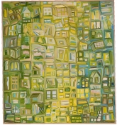 Jane McMahan Grid Paintings Oil on canvas