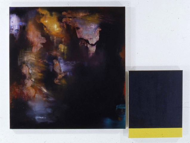 Janet Goleas Color Bars and Diptychs oil on canvas