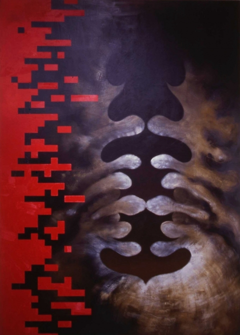 Janet Goleas Rorshachs oil on canvas