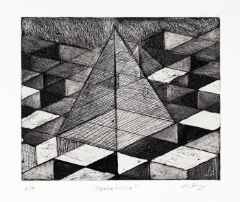 JANET OLNEY Works on Paper etching