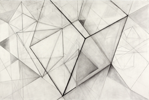 JANET OLNEY Works on Paper charcoal on paper