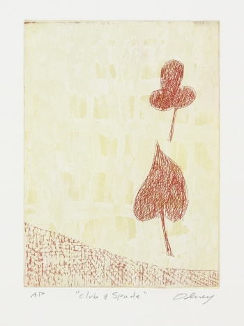 JANET OLNEY Works on Paper color etching