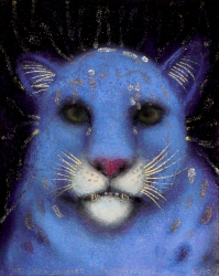 JAN HARRISON The Corridor Series - Big Cats, and Other Animals 2009-2012 Pastel and ink on rag paper